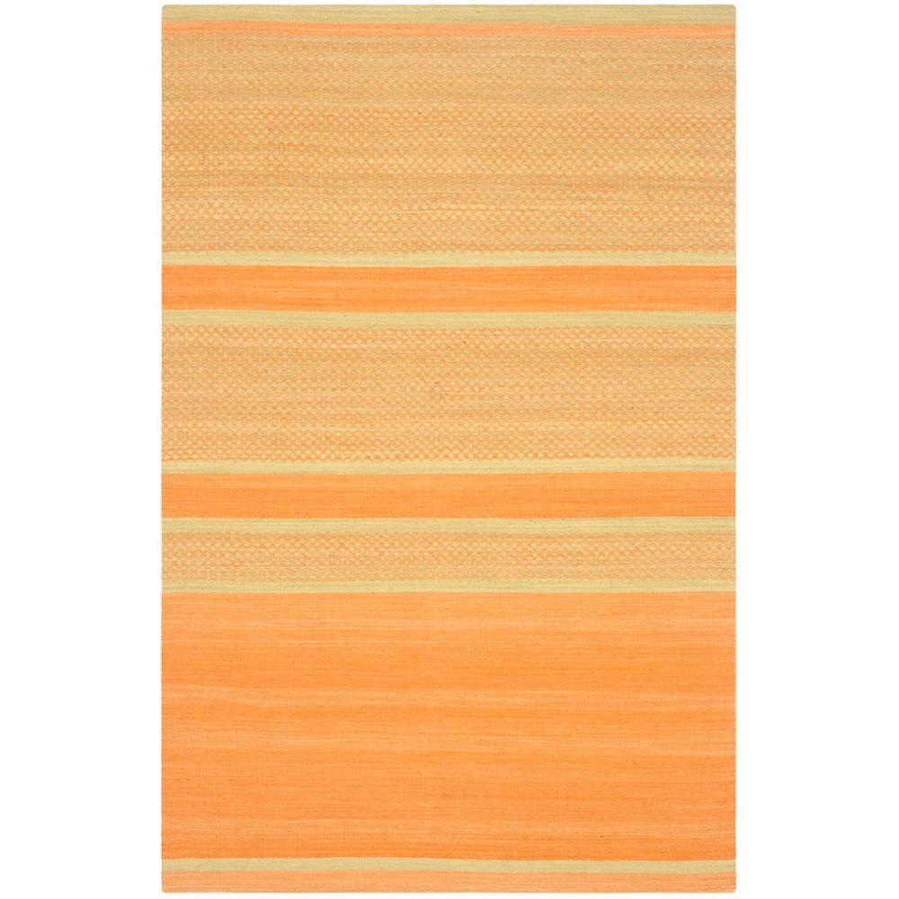 Safavieh Kilim Orange/Lime 4 ft. x 6 ft. Area Rug