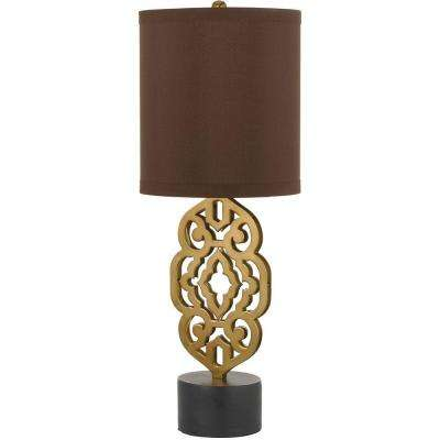 8104 32.5 in. Brass Table Lamp
