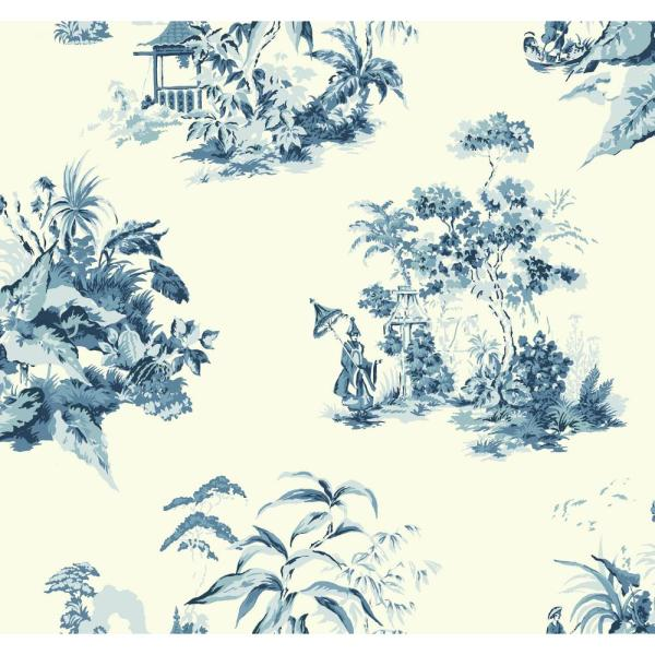 York Wallcoverings Ashford Toiles Oriental Scenic Wallpaper AF1990