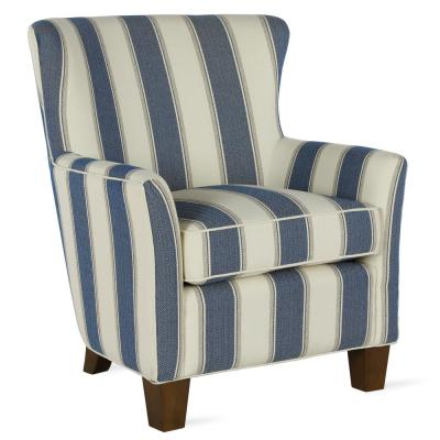 Pablo Blue Striped Upholstered Accent Chair