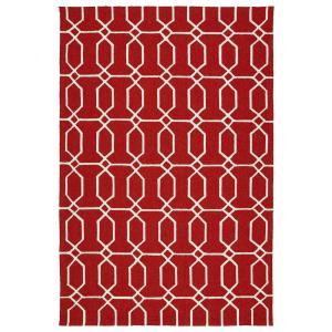 Escape Red 8 ft. x 10 ft. Indoor/Outdoor Area Rug
