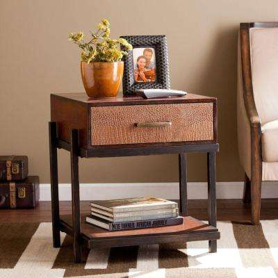 Theodore Redwashed Espresso End Table