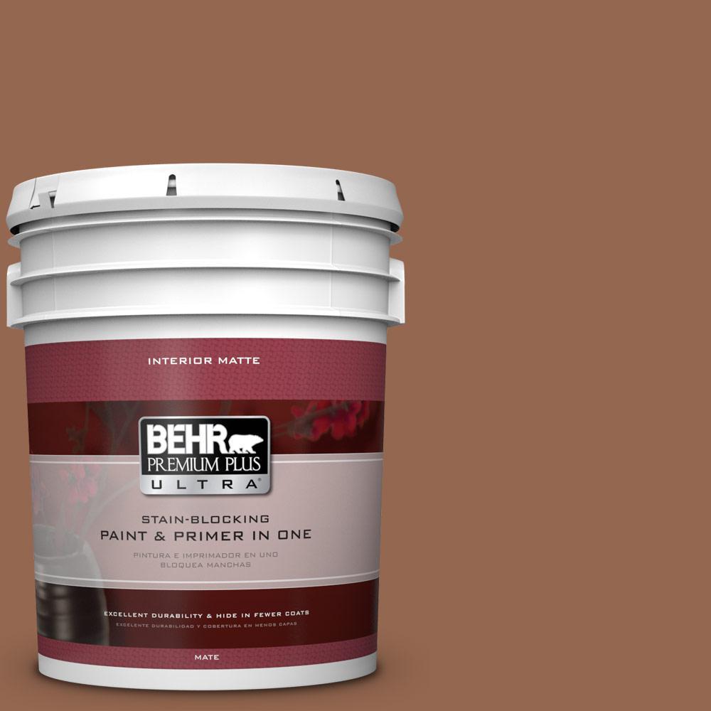 5 gal. #240F-6 Sable Brown Flat/Matte Interior Paint