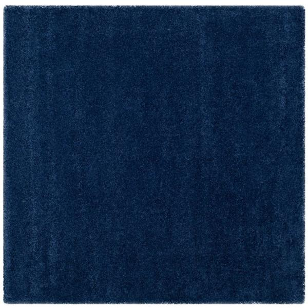 Milan Shag Navy 5 ft. x 5 ft. Square Area Rug