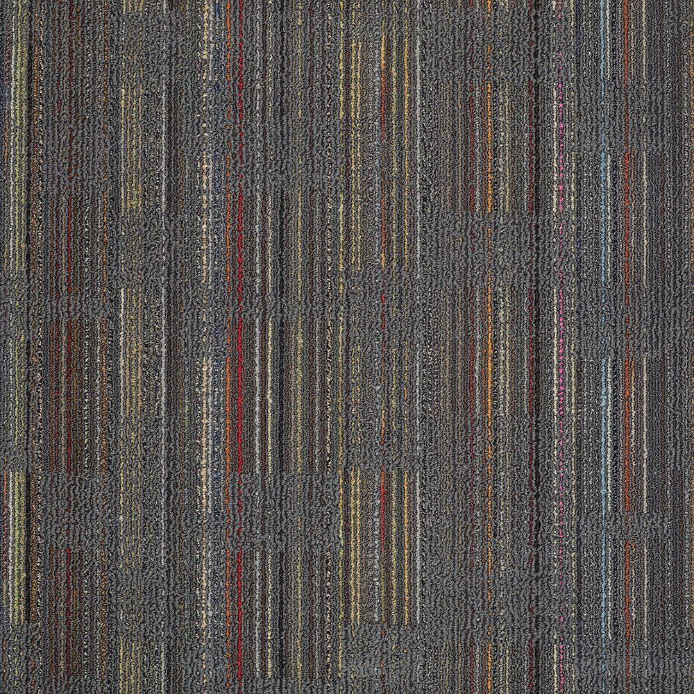 Invision Designer Cool Gray Loop 24 in. x 24 in. Modular Carpet Tile Kit (18 Tiles/Case)