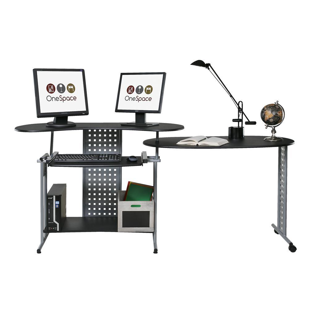 internet onespace regallo black expandable computer desk