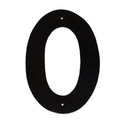 10 in. Helvetica House Number 0