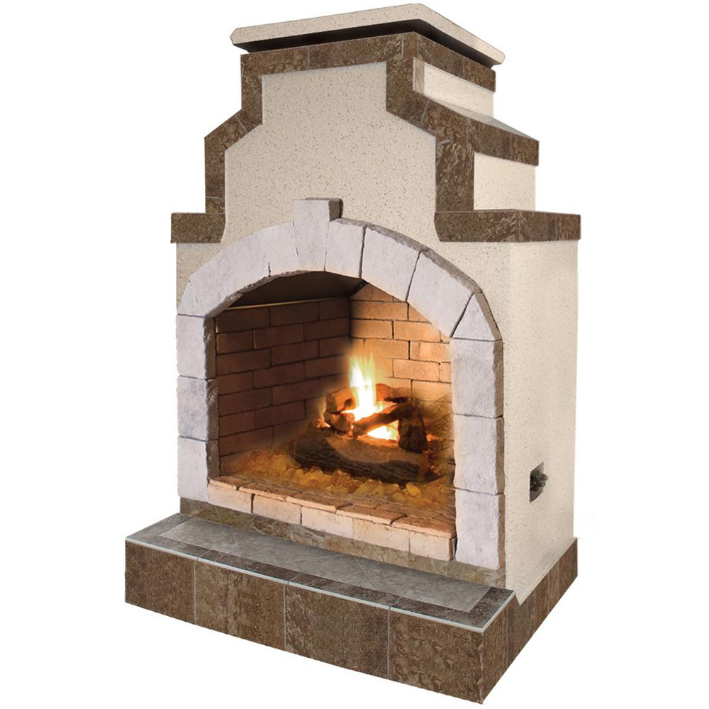 Designed to complement any backyard landscape. The Cal Flame 48 in. Propane Gas Fireplace in Porcelain Tile helps to view the information of product with specifications. It includes ventilation feature for safe propane operation.
