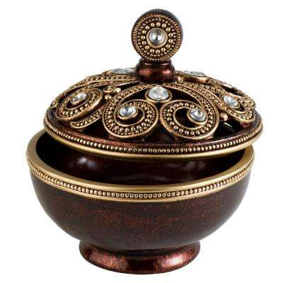 Moselle Polyresin Decorative Box with Lid
