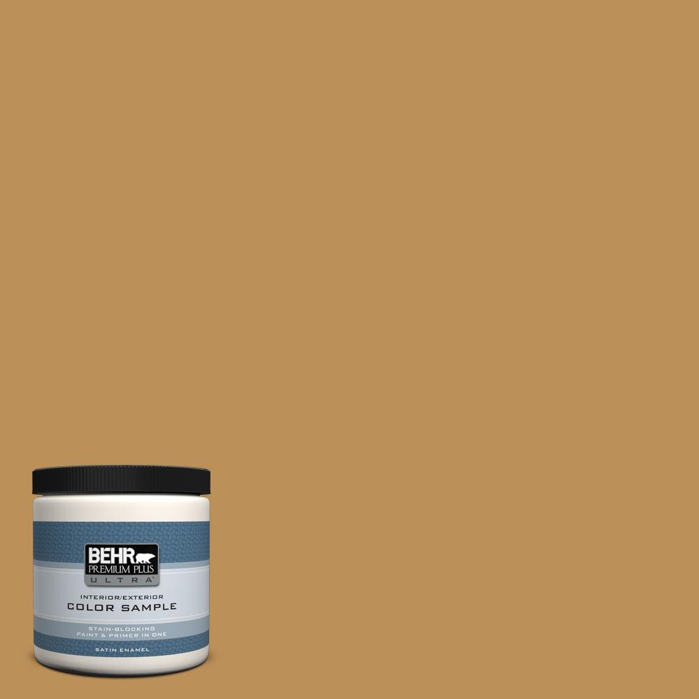 8 oz. #MQ4-7 Radiance Satin Enamel Interior/Exterior Paint and Primer in