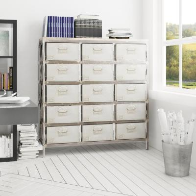 Distressed Metal and Mango Storage Chest