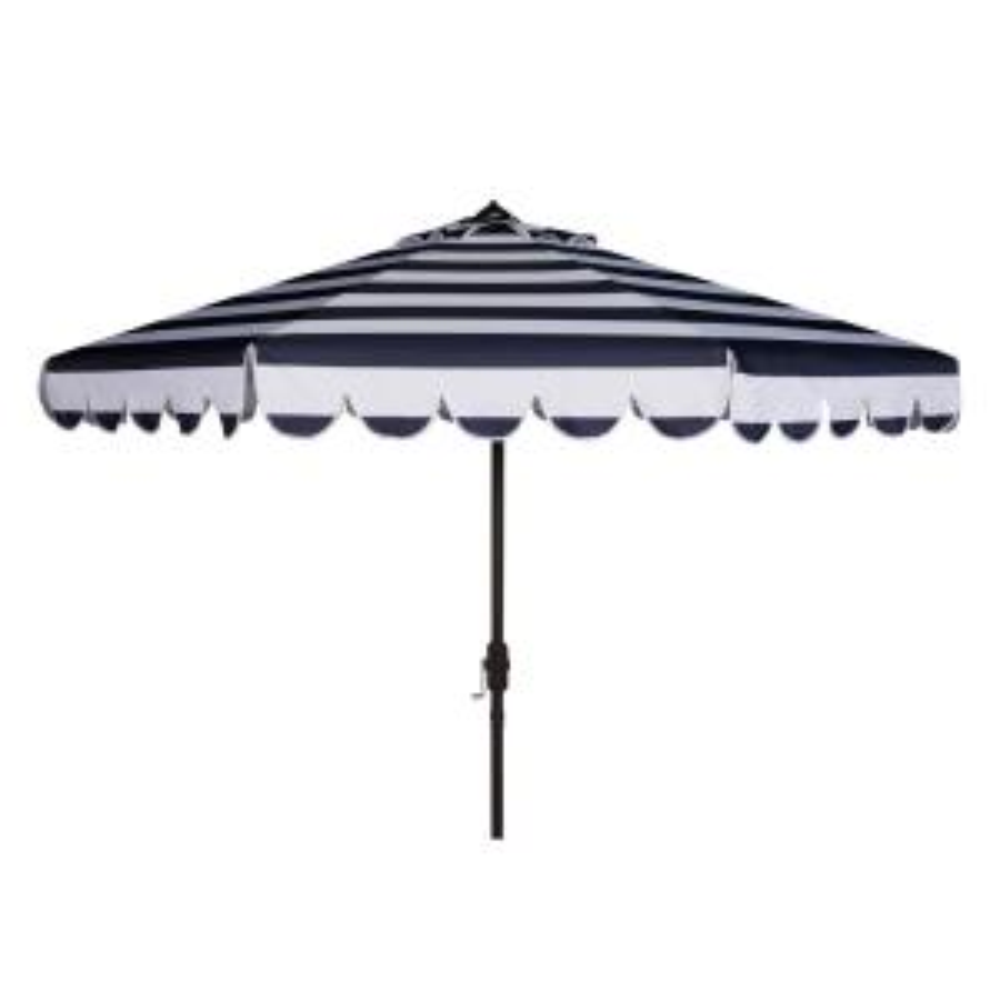Maui 9 ft. Aluminum Market Tilt Patio Umbrella in Navy/White