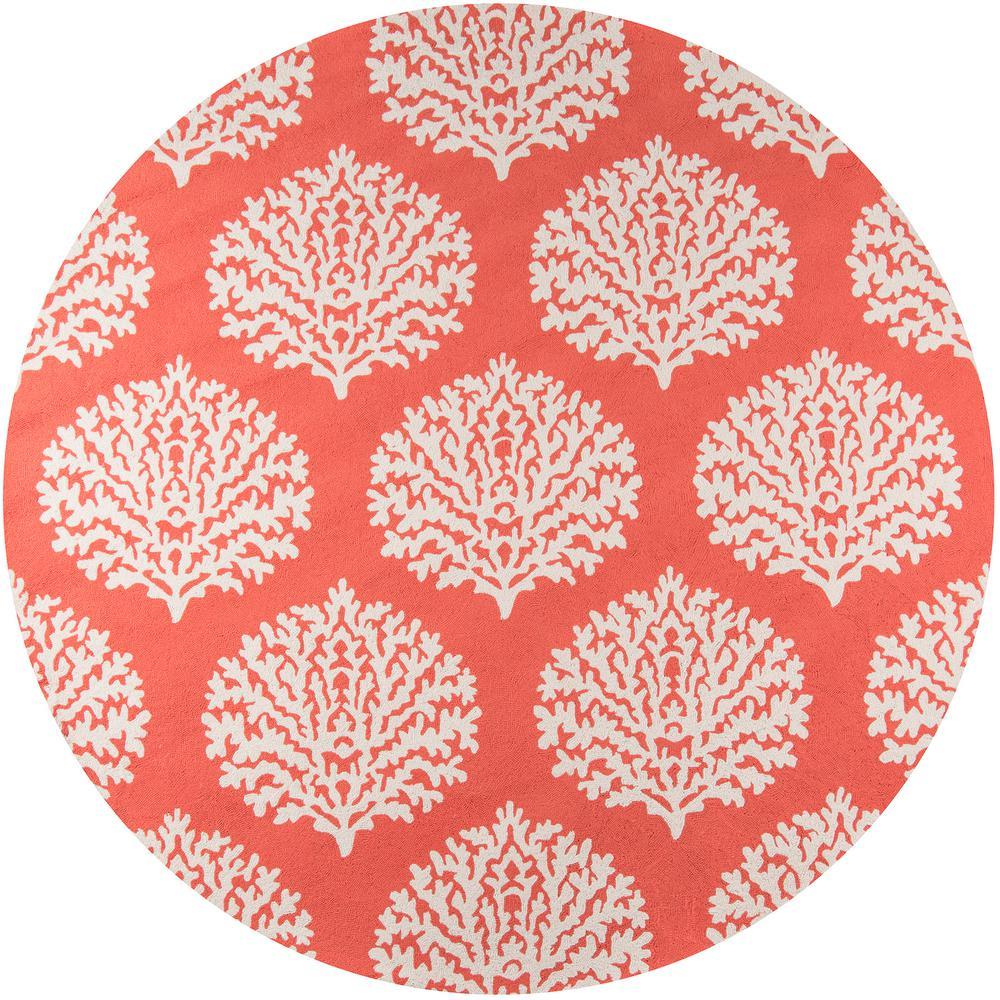 veranda coral 9 ft round area rug