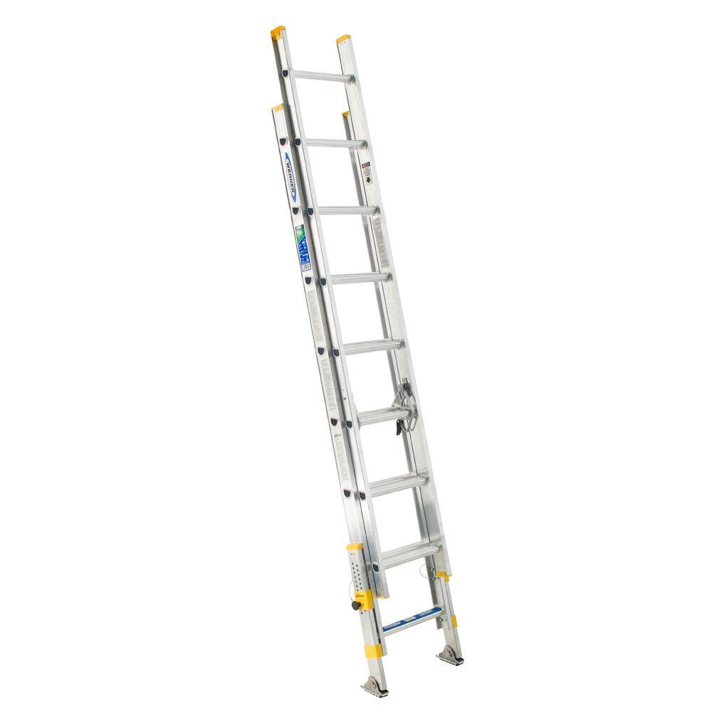 Werner 24 Ft Aluminum Extension Ladder With 225 Lb Load