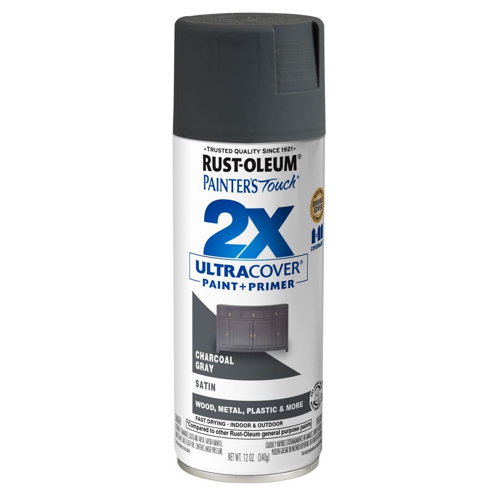 12 oz. Satin Charcoal Gray General Purpose Spray Paint