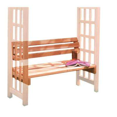 12 in. x 42 in. Outside Cedar Arbor Bench (Seat Only)