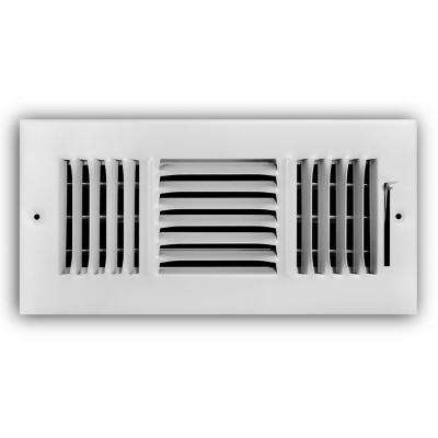 10 in. x 4 in. 3-Way Wall/Ceiling Register