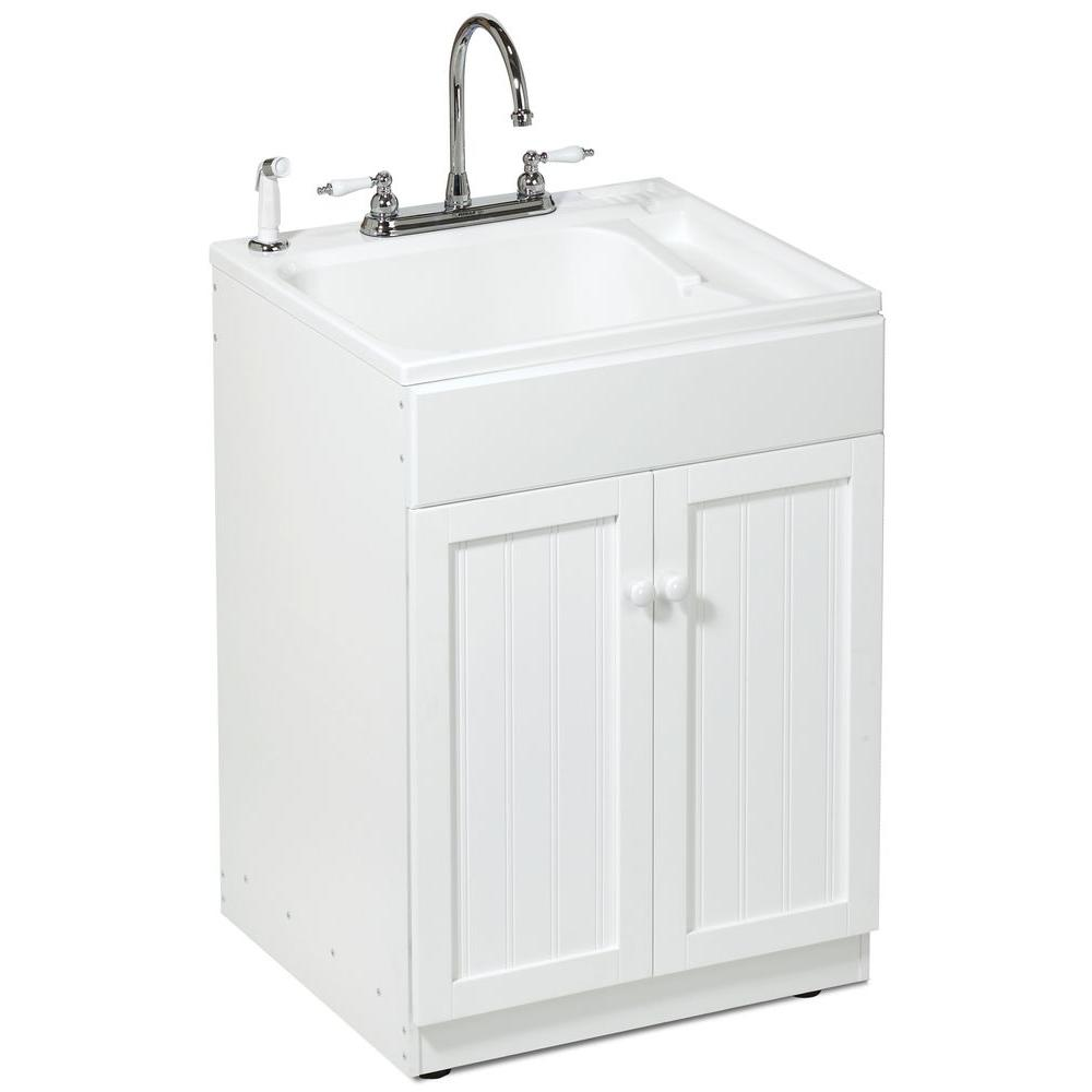 ASB 22 in. x 25 in. All-in-One ABS Drop in Utility Sink-DISCONTINUED