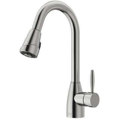 Graham Single-Handle Pull-Down Sprayer Kitchen Faucet in Stainless Steel
