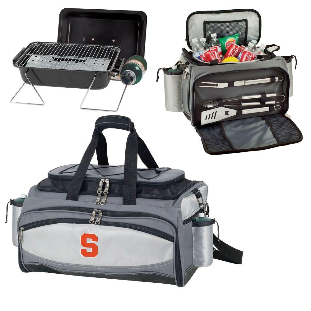 Picnic Time Syracuse Orange - Vulcan Portable Propane Grill and Cooler Tote by Embroidered