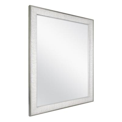 25 in. W x 31 in. H Framed Rectangular Anti-Fog Bathroom Vanity Mirror in Pewter