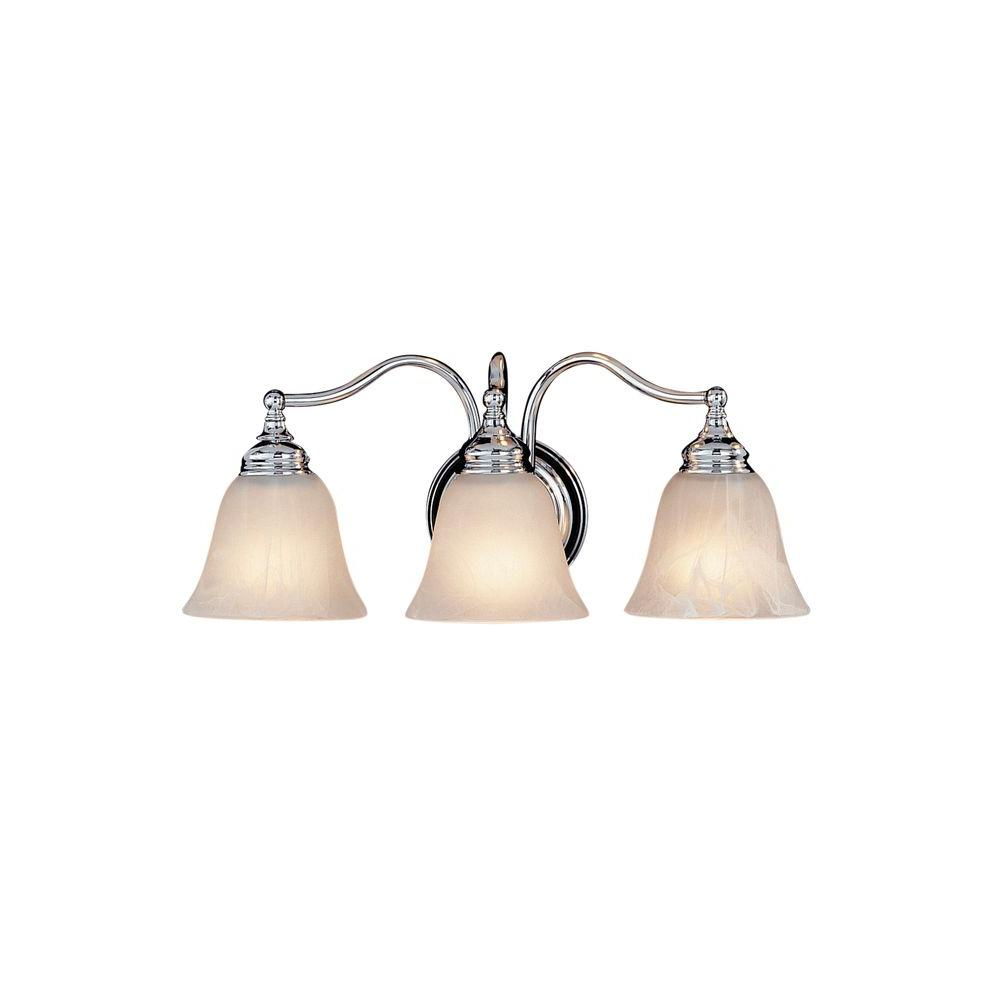 Bristol 3-Light Chrome Vanity Light