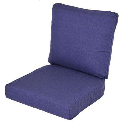 Lemon Grove Sky Replacement 2-Piece Outdoor Dining Chair Cushion