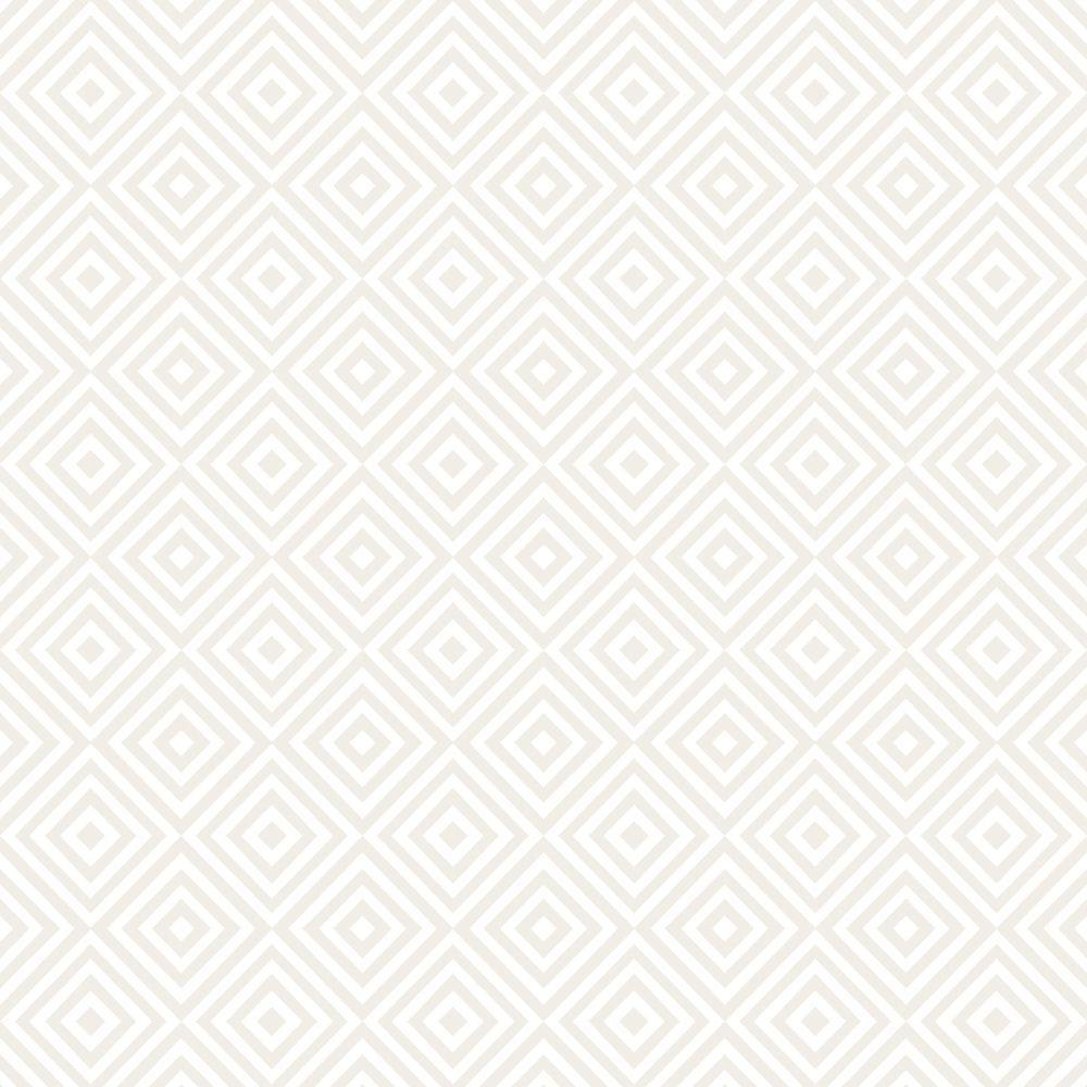 Metropolitan Cream Geometric Diamond Wallpaper Sample