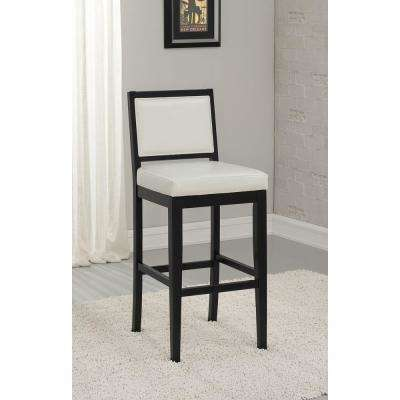 Fairmount 30 in. Black Cushioned Bar Stool