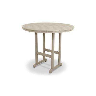 Monterey Bay Sand Castle 48 in. Round Patio Bar Table