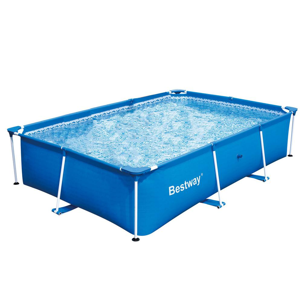 Bestway Bestway Rectangular 118 in. x 79 in. x 26 in. Deluxe Splash Frame Kids Pool 56043US