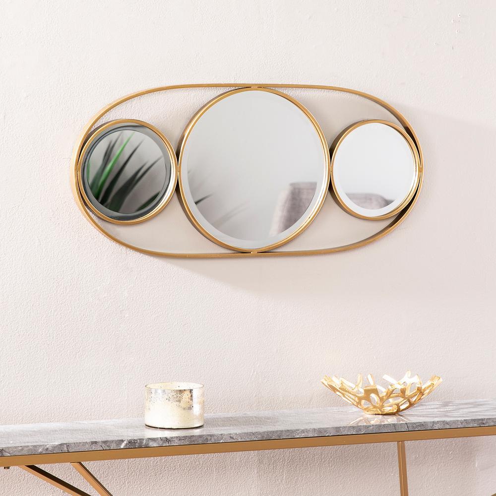 Hexlen Gold Decorative Accent Mirror