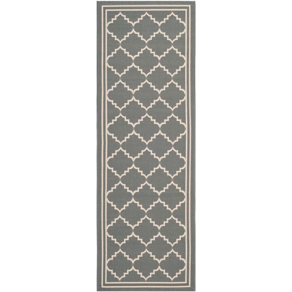 Safavieh Courtyard Gray/Beige 2 ft. 3 in. x 10 ft. Indoor/Outdoor Runner