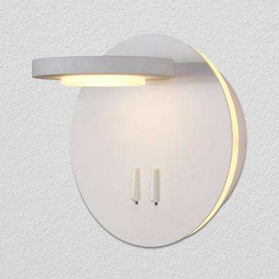 Tania 6.25 in. White Integrated LED Sconce