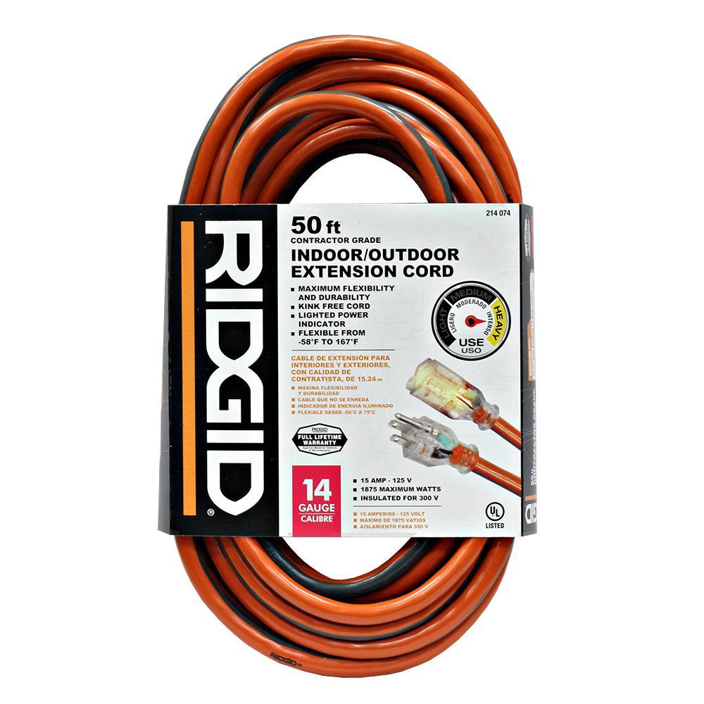 Heavy Duty Indoor Outdoor Extension Cords Home Depot