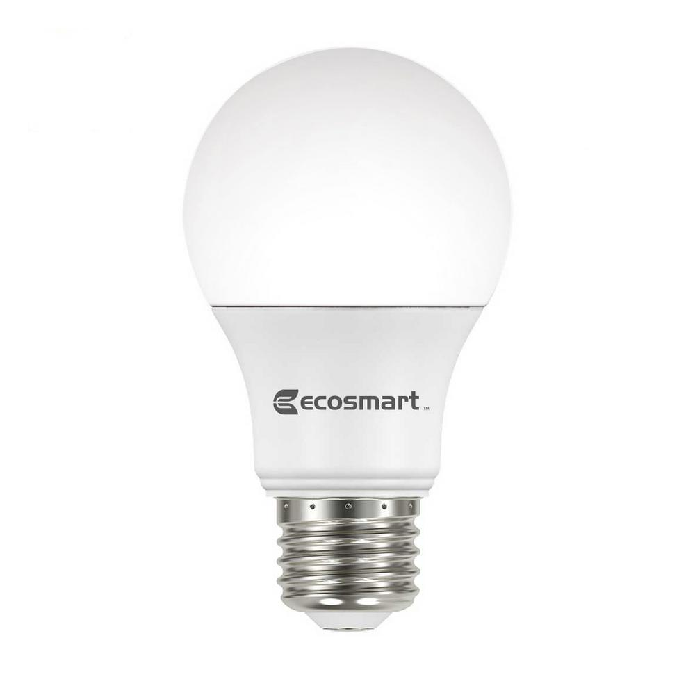 Led Bulbs For Enclosed Fixtures: EcoSmart 60-Watt Equivalent A19 Non-Dimmable CEC LED Light