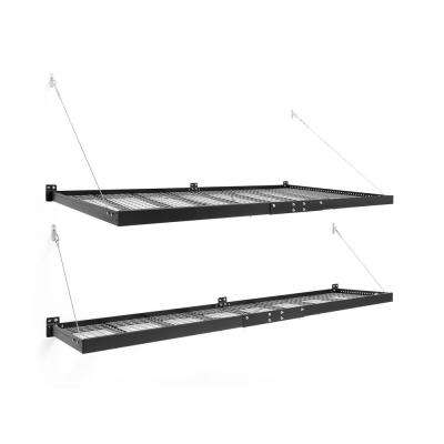 Pro Series 3.0 4 ft. x 8 ft. and 2 ft. x 8 ft. Wall Mounted Steel Shelf Set in Black