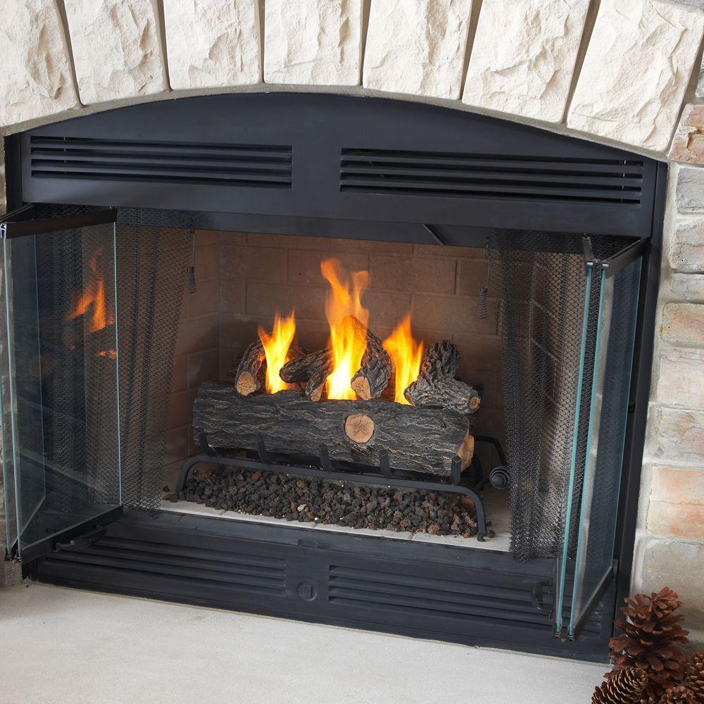 Real Flame 24 in. Oak Convert to Gel Fireplace Logs