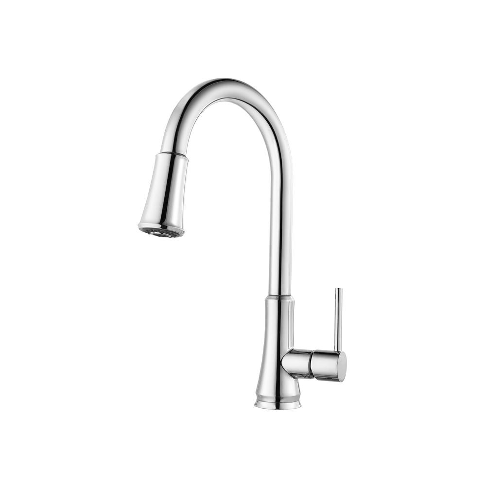 Pfister Pfirst Series Single-Handle Pull-Down Sprayer Kitchen Faucet ...
