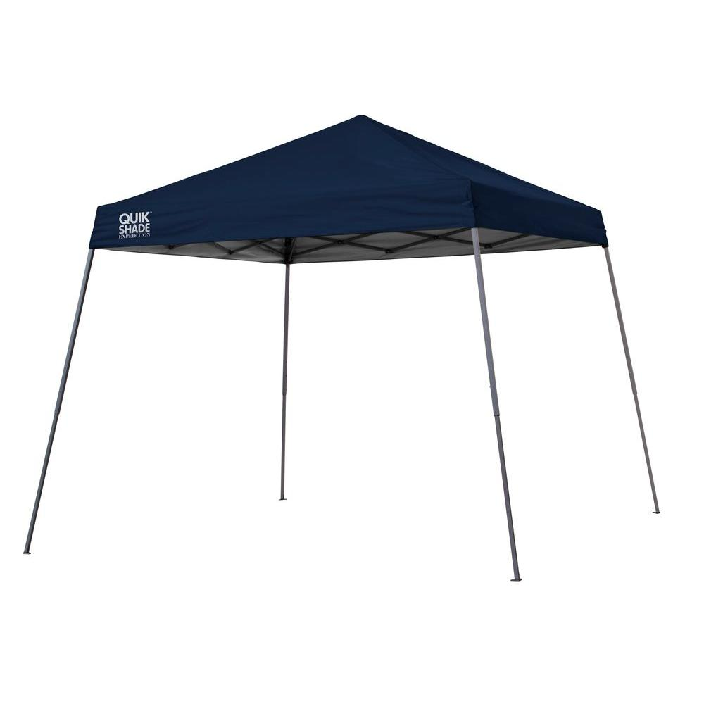 Quik Shade Expedition Team Colors 10 ft. x 10 ft. Navy Blue Slant Leg Instant Canopy-160716 - The Home Depot  sc 1 st  The Home Depot : shade tech 10x10 instant canopy - memphite.com
