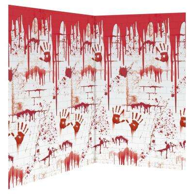 48 in. Halloween Chop Shop Scene Setter Room Roll (2-Pack)