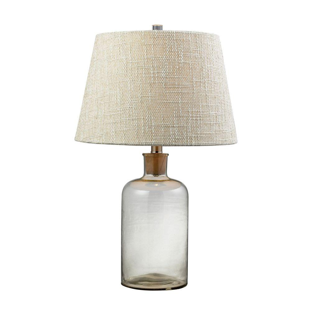 An Lighting 26 In Clear Gl Bottle Table Lamp With Cork Neck