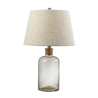 26 in. Clear Glass Bottle Table Lamp with Cork Neck