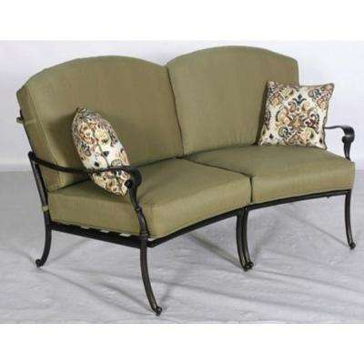 Edington Patio Loveseat Sectional with Celery Cushions