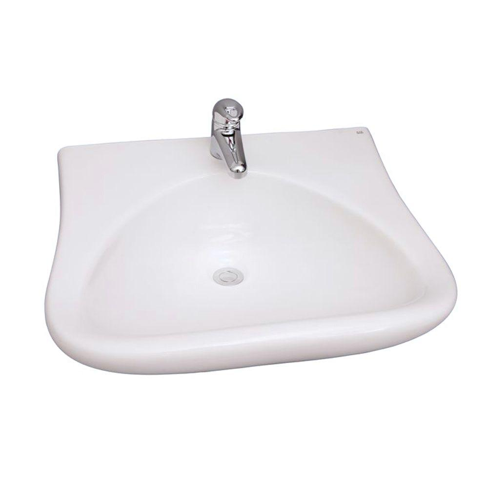 Barclay Products Bella Wall-Mounted Bathroom Sink in White