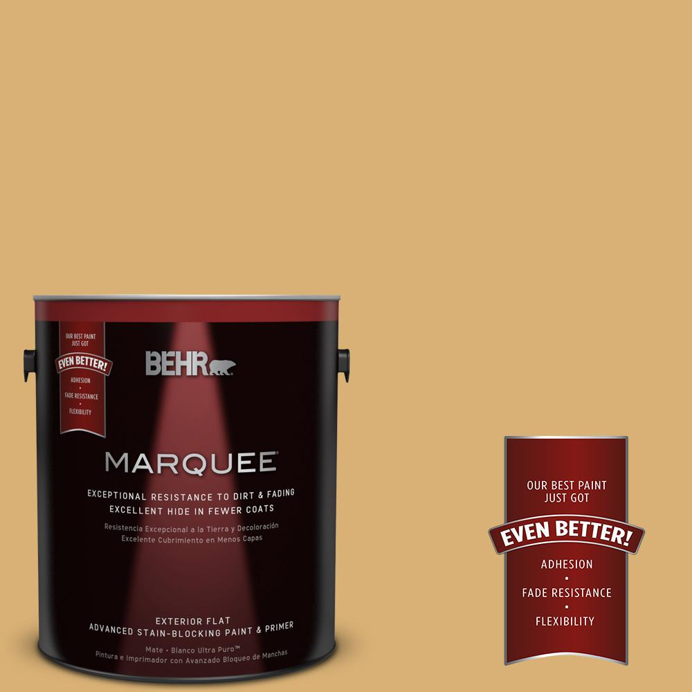 Home Decorators Collection 1-gal. #HDC-AC-08 Mustard Field Flat Exterior Paint