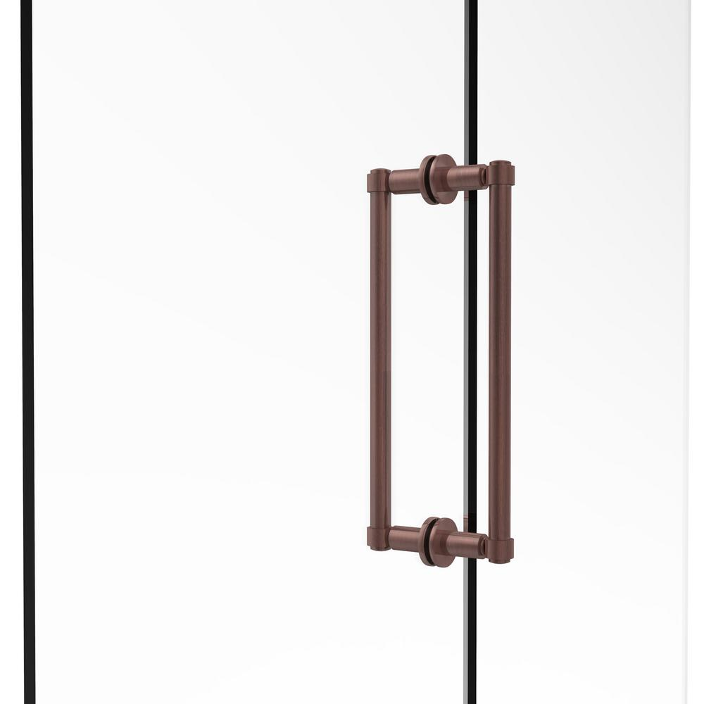 Allied Brass Contemporary 12 In Back To Back Shower Door