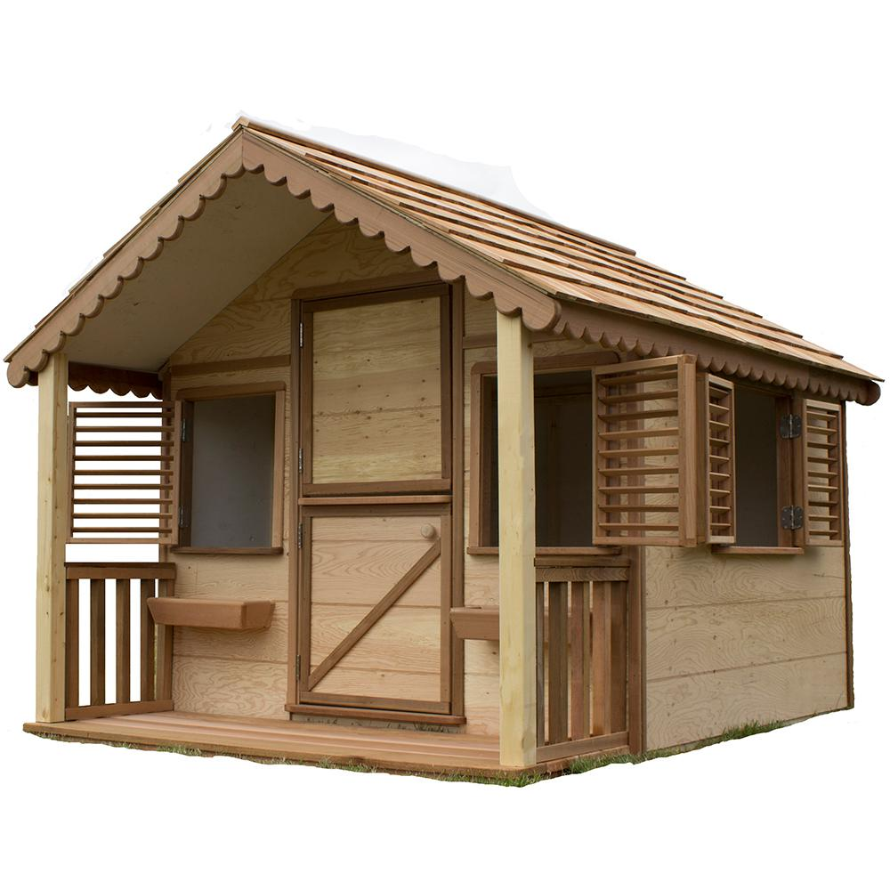 Canadian playhouse factory 8 ft x 6 ft little alexandra for Playhouse with porch plans