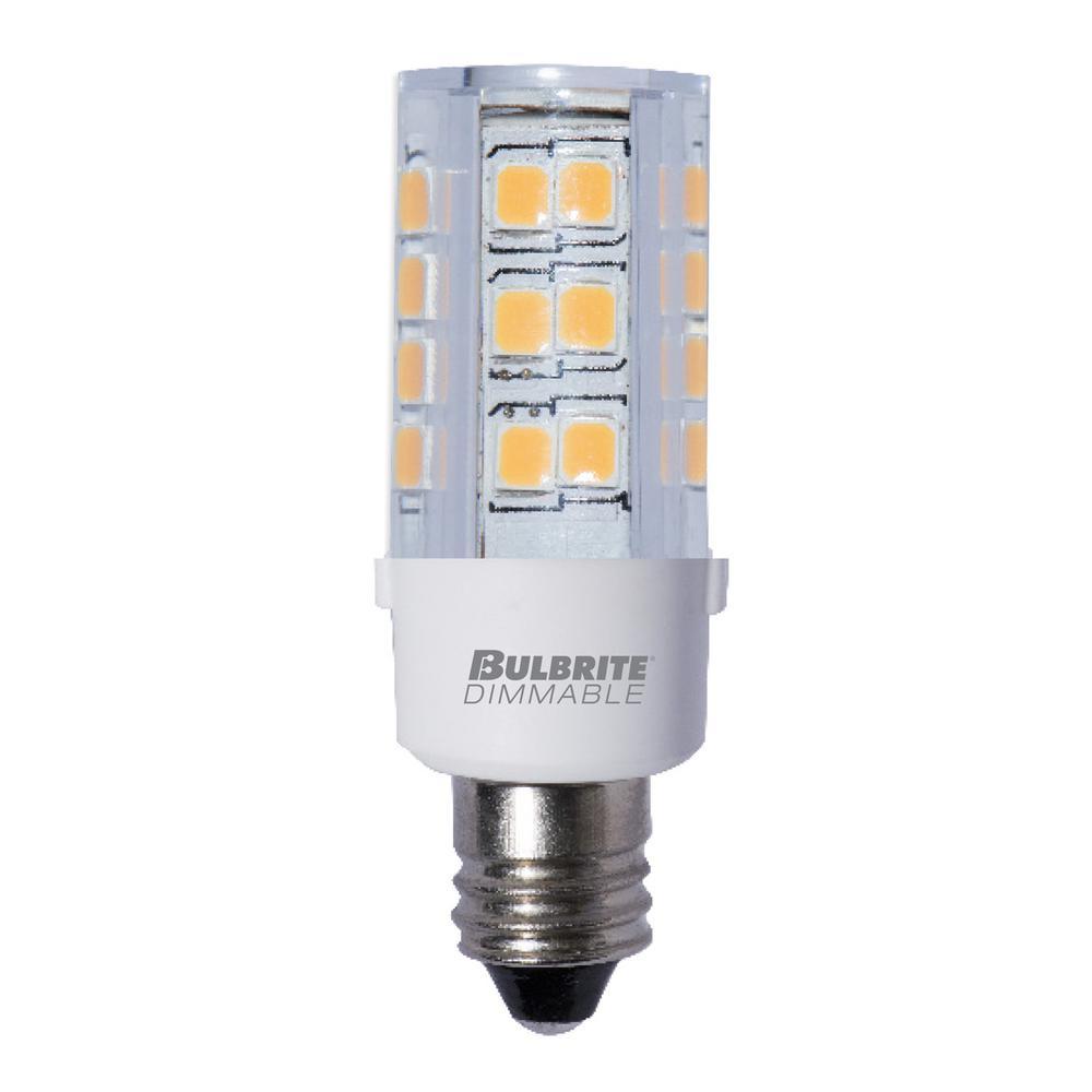 35-Watt Equivalent T4 Dimmable Candelabra LED Light Bulb Soft White (2-Pack)