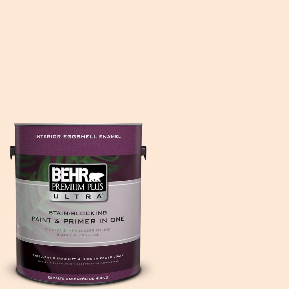 BEHR Premium Plus Ultra 1-gal. #270C-1 Naive Peach Eggshell Enamel Interior Paint
